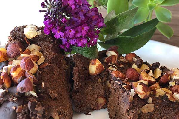 Chocolate veggie brownie