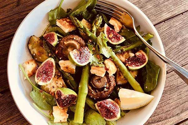 Fig and Haloumi Salad