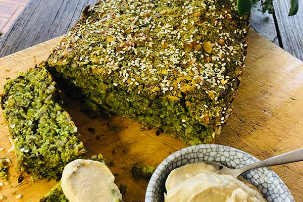 Zucchini super-greens herby bread